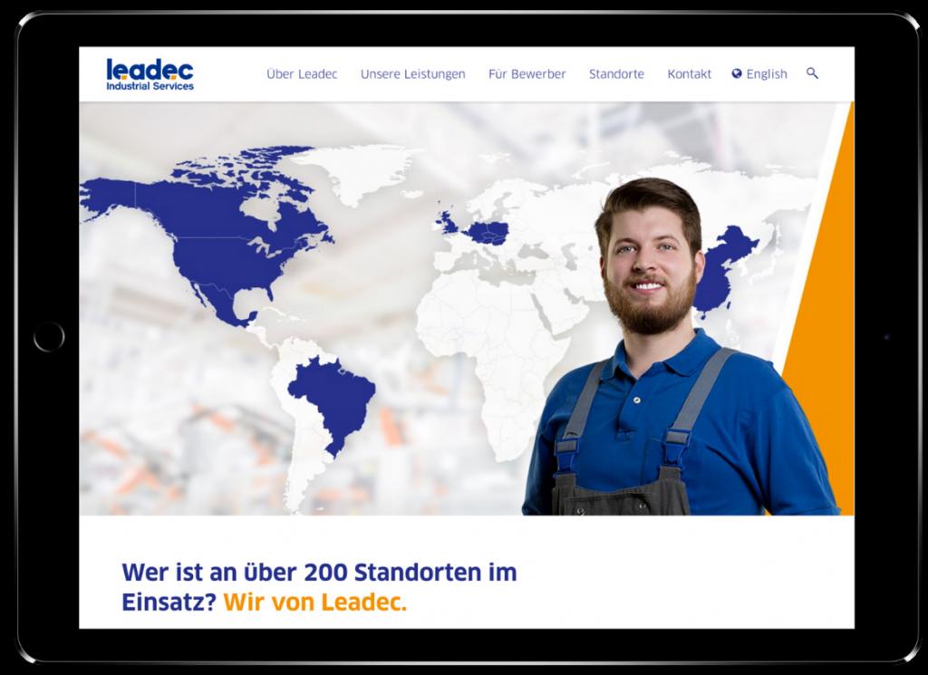 KloseDetering Werbeagentur Online Webdesign für leadec