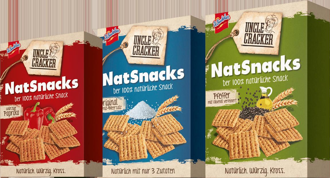 KloseDetering Werbeagentur Uncle Cracker NatSnacks Verpackungsdeisgn