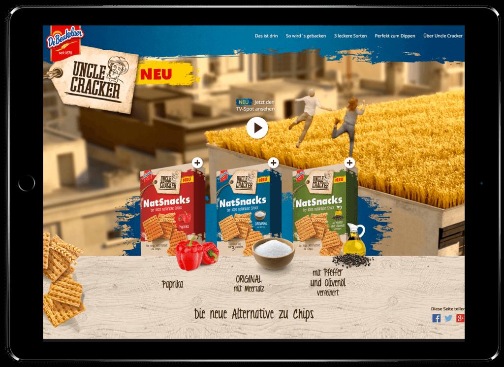 KloseDetering Werbeagentur Online Webdesign Uncle Cracker NatSnacks